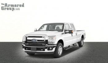 White Ford F-350 armored truck picture