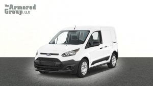 TAG White armored Ford Transit Connect van picture