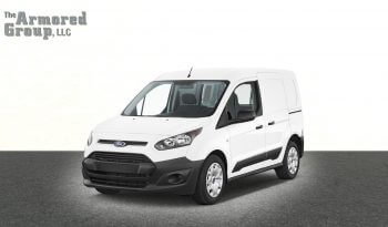 White armored Ford Transit Connect van picture