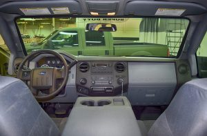 TAG Armored Ford F350 Front Interior