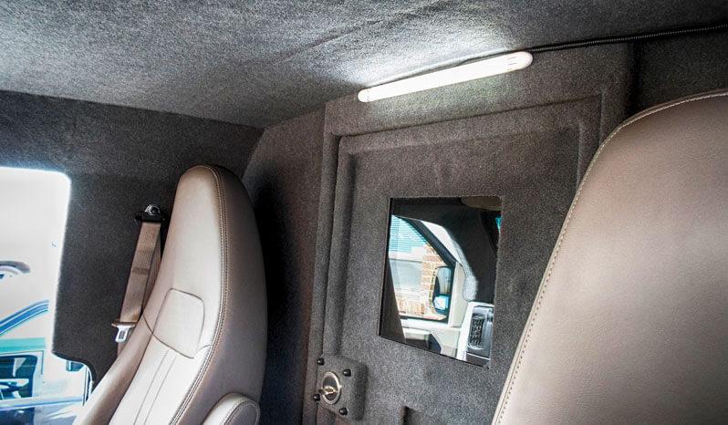 Cab of bulletproof Chevrolet/GM 2500 & 3500 cargo van
