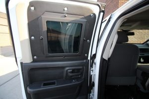 TAG Armored Dodge Ram 1500 Back Seat Behind Driver Interior Door Panel Window