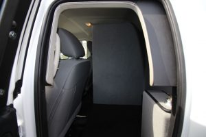 TAG Armored Dodge Ram 1500 Back Seat Door View Bullet Proof Wall