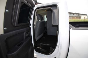 TAG Armored Dodge Ram 1500 Interior of cab in Dodge Ram 1500 armored truck