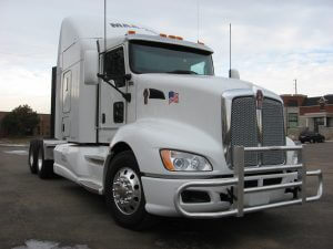 Armored Kenworth Front Corner White