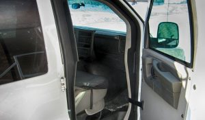 TAG Armored Chevy/GM 2500 & 3500 Passenger Van Door Open
