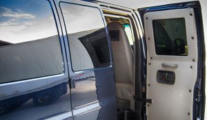 TAG Armored Chevy/GM 2500 & 3500 Passenger Van Passenger Back Door Open