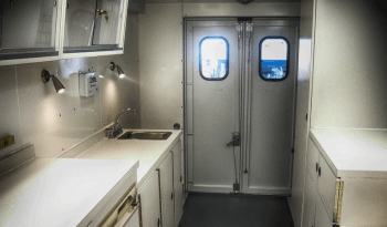 Interior of non-armored crime scene vehicle for law enforcement picture