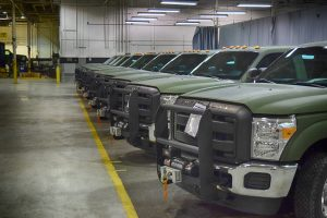 TAG Armored Ford F350 Driver Front Corner Multiple Trucks