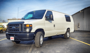 TAG White non-armored Ford surveillance law enforcement van picture