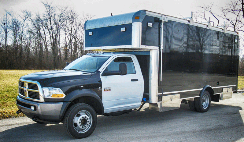 Non-armored Dodge law enforcement equipment truck picture