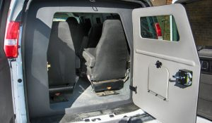 TAG Armored Chevy/GM 2500 & 3500 Passenger Van Rear Door Open Bullet Proof