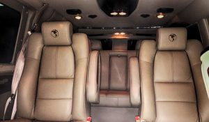 TAG Interior of bulletproof Chevrolet/GM 2500 & 3500 passenger van