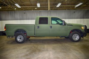 TAG Armored Ford F350 Passenger Side