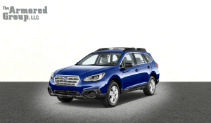TAG Blue armored Subaru Outback SUV passenger vehicle picture