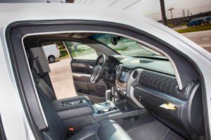 TAG Armored Toyota Tundra Interior of bulletproof Toyota Tundra truck