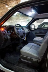 TAG 2013 Armored Ford F550 CIT Interior of bulletproof Ford F550 cash-in-transit vehicle