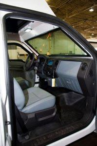 TAG 2013 Armored Ford F550 CIT Exterior View Passenger Door Dashboard Seat Door Open