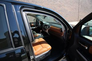 TAG 2016 Toyota Tundra Passenger Door Open Side View Brown Leather Seats Dashboard