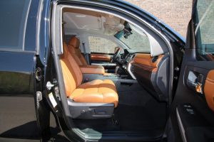 TAG 2016 Toyota Tundra Passenger Door Open Side View Brown Leather Seats