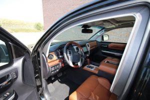 TAG Interior of bulletproof 2016 Toyota Tundra truck