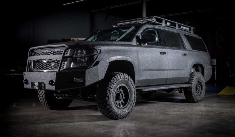 Black armored Chevrolet tactical SWAT suburban picture