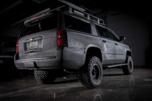 TAG Armored Tactical SWAT Suburban Rear view of black armored Chevrolet tactical SWAT suburban picture