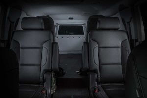 TAG Armored Tactical SWAT Suburban Rear Seats Window View