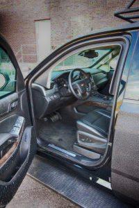 TAG Armored Tactical SWAT Suburban Driver Door Open Steering Wheel