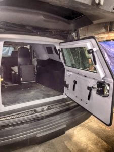 TAG Armored Tactical SWAT Suburban Rear Bullet Proof Hatch Door Open