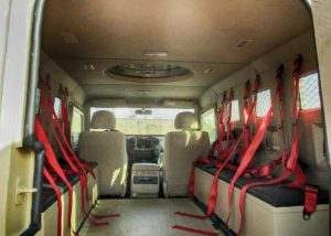 TAG BATT-T interior with bench or individual seating