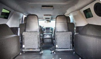 Interior of bulletproof Chevrolet tactical SWAT suburban for law enforcement