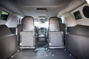 TAG Armored Tactical SWAT Suburban Rear Interior View Seats Folded
