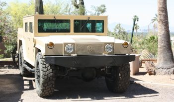 Tan armored Hummer military vehicle picture
