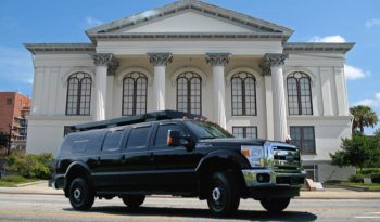 Black armored Ford mobile command center picture