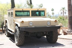 TAG Armored Hummer Front Grille View Outdoors