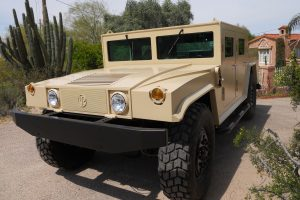 TAG Armored Hummer Front Corner Side View Outdoors