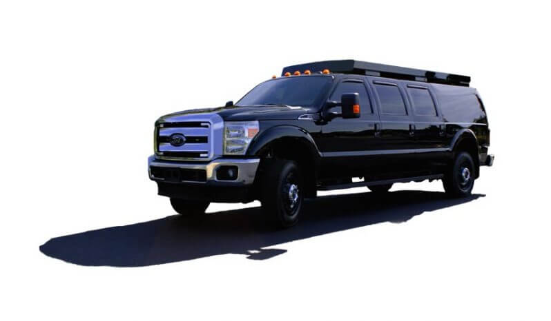 TAG Tactical Utility Vehicles Ford Mobile Commander Front Side Corner