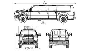 TAG Tactical Utility Vehicles Ford Mobile Commander Sketches Dimensions