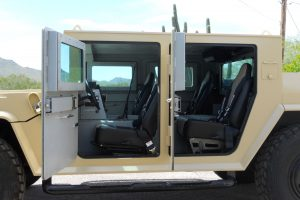 TAG Armored Hummer Interior bulletproof armored Hummer military vehicle