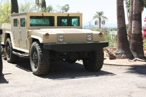 TAG Armored Hummer Front Corner Side View