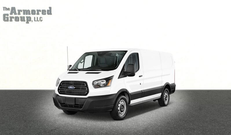 White armored Ford Transit T350 cash-in-transit van picture