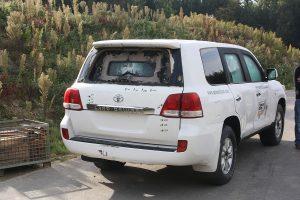 TAG Toyota Land Cruiser (TLC) 200 Series VR7 VPAM Rear View Bulletproof Testing
