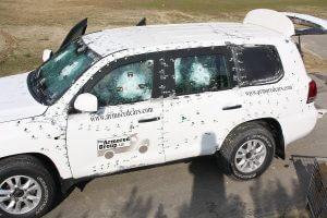 TAG Toyota Land Cruiser (TLC) 200 Series VR7 VPAM Bulletproof Testing Doors Open