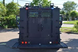 TAG BATT X Armored Truck Rear Two Doors View