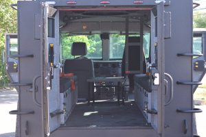 TAG BATT X Armored Truck Rear View Doors Open Interior Space