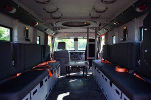 TAG BATT X Armored Truck Interior Space Bench Seats