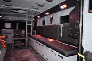TAG BATT X Armored Truck Interior Bench Seats