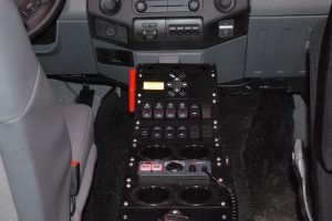 TAG BATT X Armored Truck Center Console Buttons Cupholders