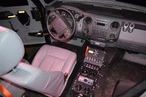 TAG BATT X Armored Truck Top View Driver Seats Cockpit